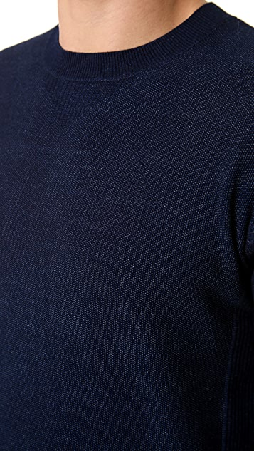 Paul Smith Red Ear Crew Neck Knit Shirt