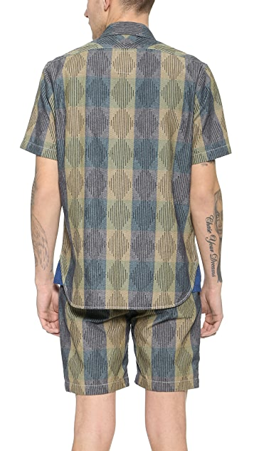 Paul Smith Red Ear Rain Print Shirt