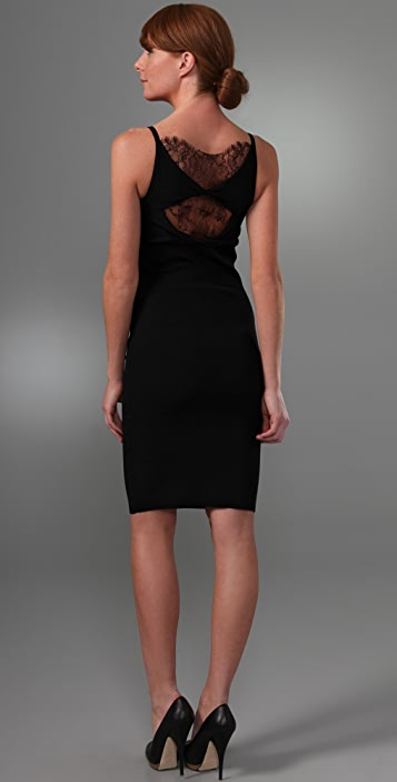 RED Valentino Sleeveless Dress with Lace Detail
