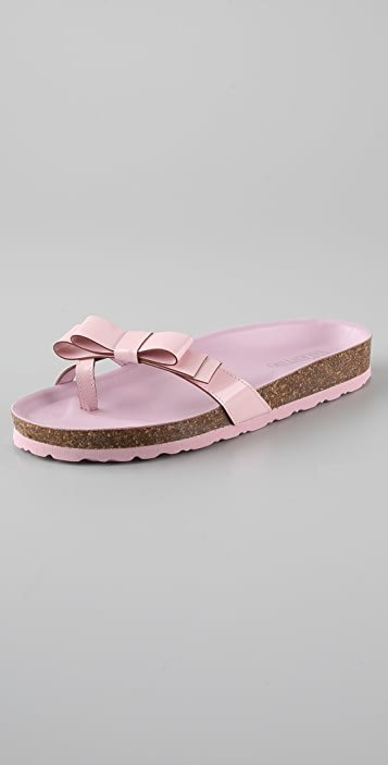 RED Valentino Molded Footbed Flat Sandals