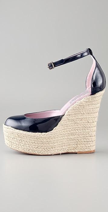 RED Valentino Espadrille Wedge Sandals