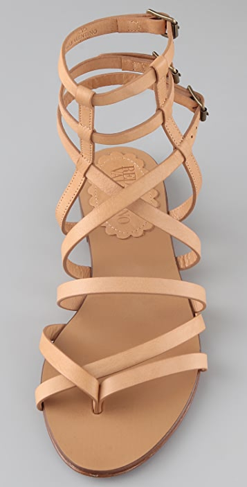 0af22f8b753 ... RED Valentino Flat Thong Gladiator Sandals ...