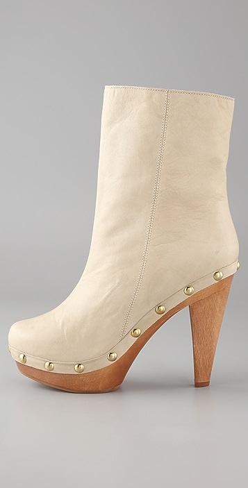 RED Valentino High Heel Clog Booties