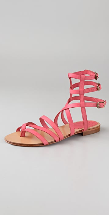 fe1df1a266b RED Valentino Flat Thong Gladiator Sandals