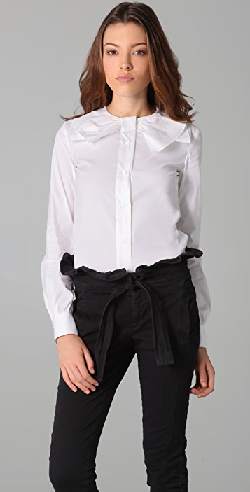 RED Valentino Button Down Shirt with Bow