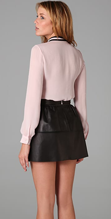 RED Valentino Tie Front Blouse