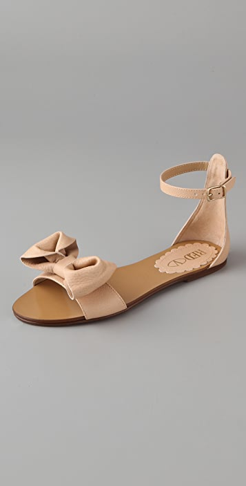 ba167540e2f RED Valentino Bow Flat Sandals