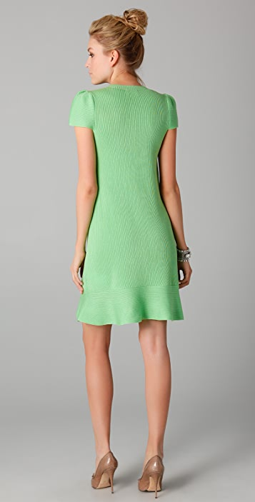 RED Valentino Knit Dress with Ruffle