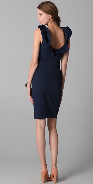 RED Valentino Sleeveless Dress with Open Back