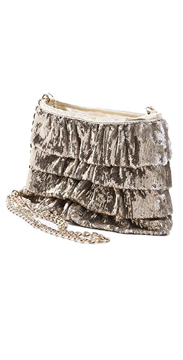 RED Valentino Sequin Ruffle Bag