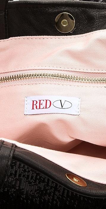 RED Valentino Sequin Ruffle Tote