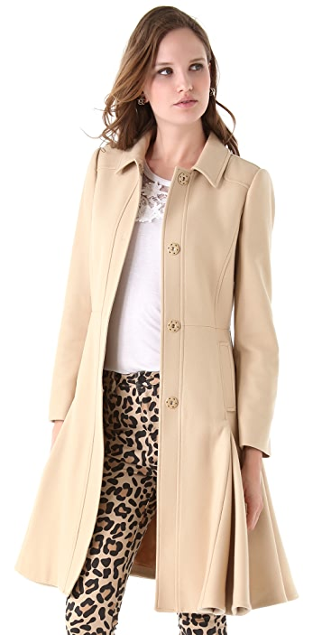 RED Valentino Long Coat with Godets