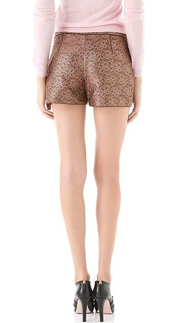RED Valentino Brocade Shorts