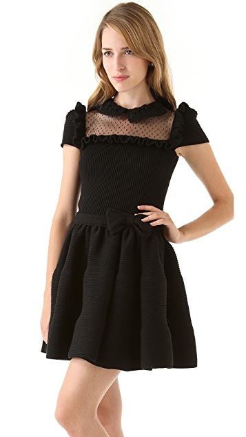 RED Valentino Sweater Dress with Tulle