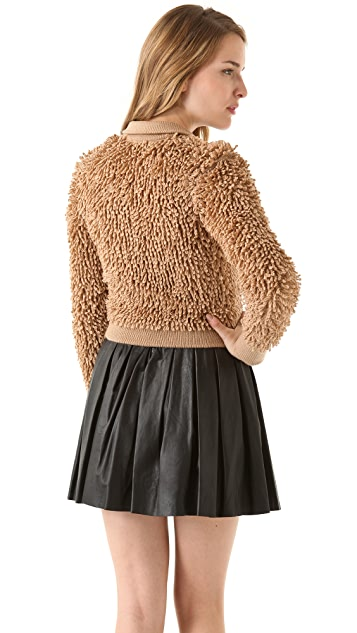 RED Valentino Loop Stitch Wool Cardigan