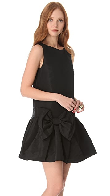 Red Valentino Bow Dress With Dropped Waist Shopbop