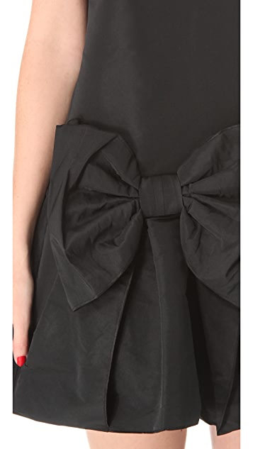 RED Valentino Bow Dress with Dropped Waist