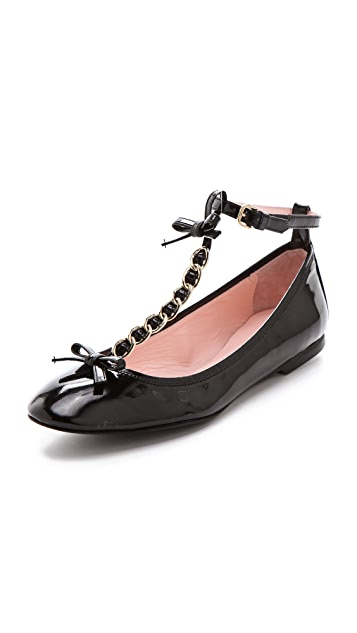 RED Valentino Chain Trim Flats