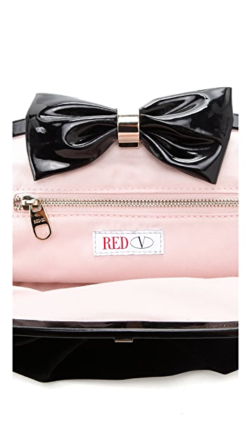 RED Valentino Oversized Velvet Clutch