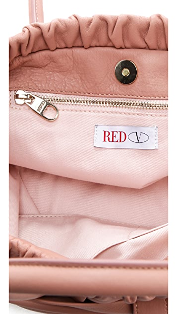 RED Valentino Calfskin Bow Satchel
