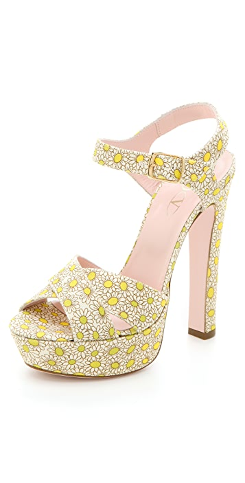 RED Valentino Daisy Platform Sandals