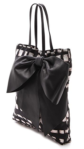 RED Valentino Printed Bow Tote