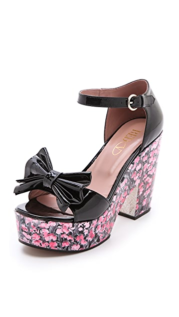 RED Valentino Floral High Heel Sandals