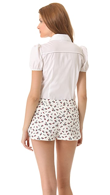 RED Valentino Poplin Bow Blouse