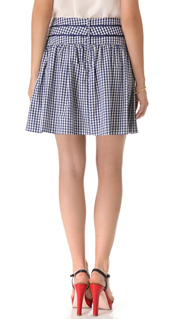 RED Valentino Taffeta Gingham Skirt