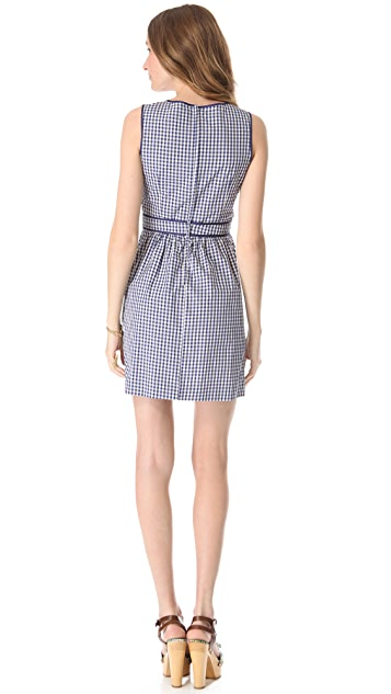 RED Valentino Sleeveless Gingham Dress