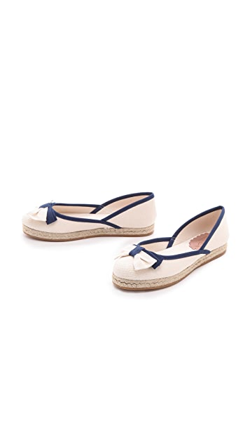 RED Valentino Flat Espadrilles with Bow
