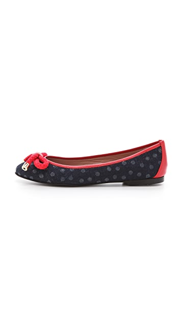 RED Valentino Nautical Ballet Flats