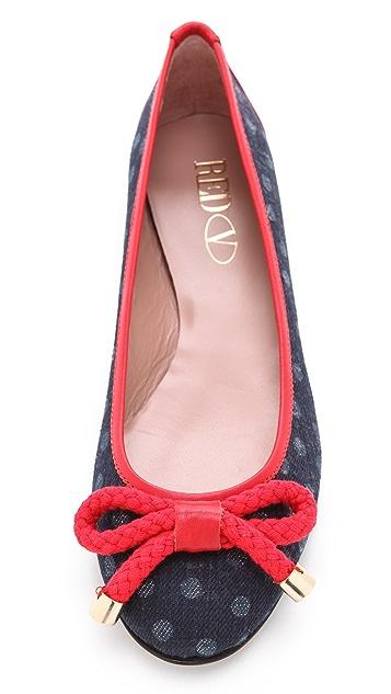 RED Valentino Nautical Ballet Flats