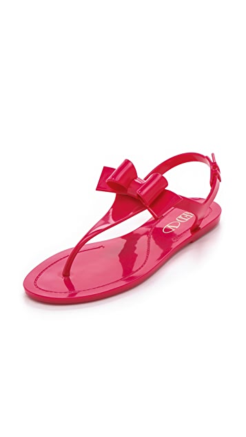 06cacbf281c RED Valentino Bow Jelly Sandals