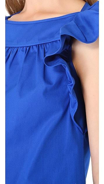 RED Valentino Flutter Sleeve Dress