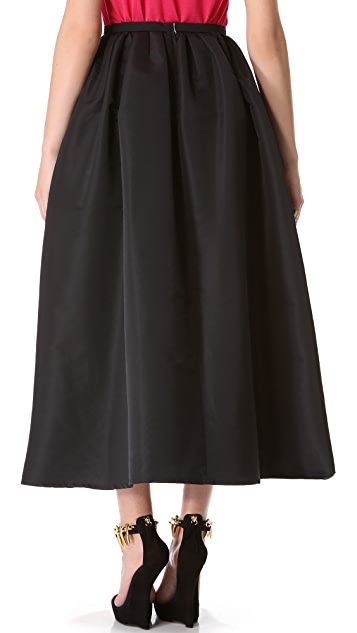 RED Valentino Faille Full Skirt