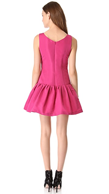 RED Valentino Drop Waist Faille Dress