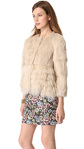 RED Valentino Lapin Fur Jacket