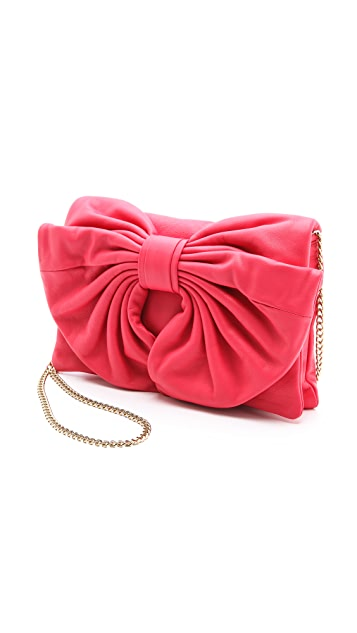 RED Valentino Small Leather Bow Bag