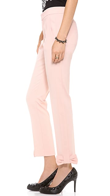 RED Valentino Bow Cuff Slim Pants