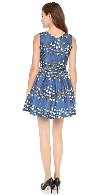 RED Valentino Snowdrop Flower Print Mini Dress