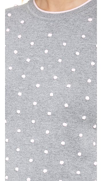 RED Valentino Polka Dot Sweater