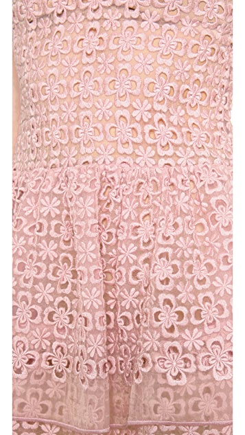 RED Valentino Full Flowers Sleeveless Dress