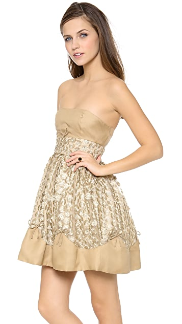 RED Valentino Golden Puff Dress
