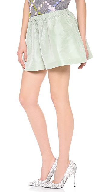 RED Valentino Faille Shorts