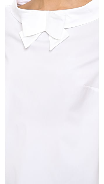 RED Valentino Bow Collar Top