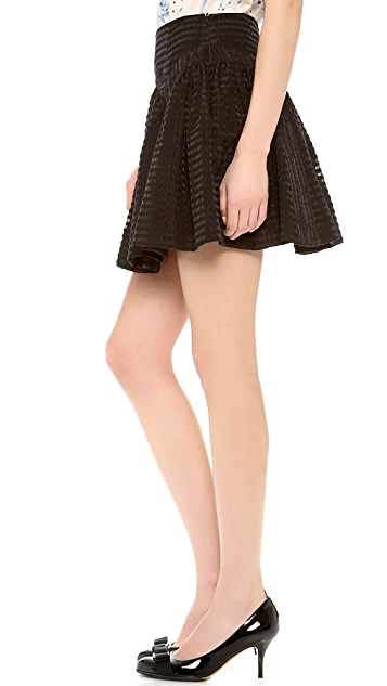 RED Valentino Seersucker Skirt
