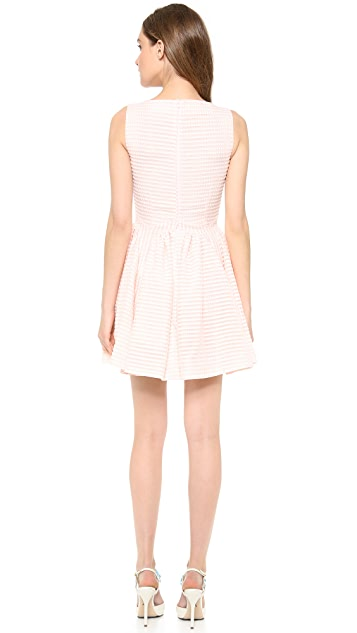 RED Valentino Seersucker Sleeveless Dress