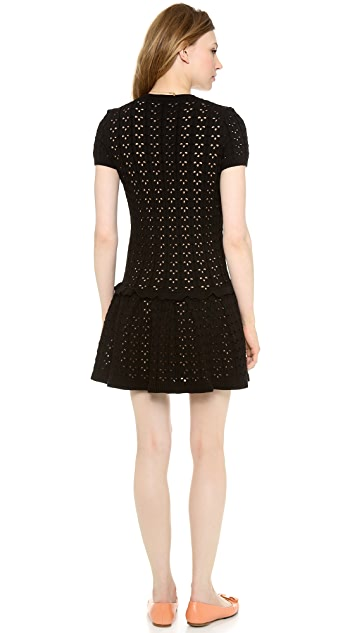 RED Valentino Short Sleeve Knit Dress