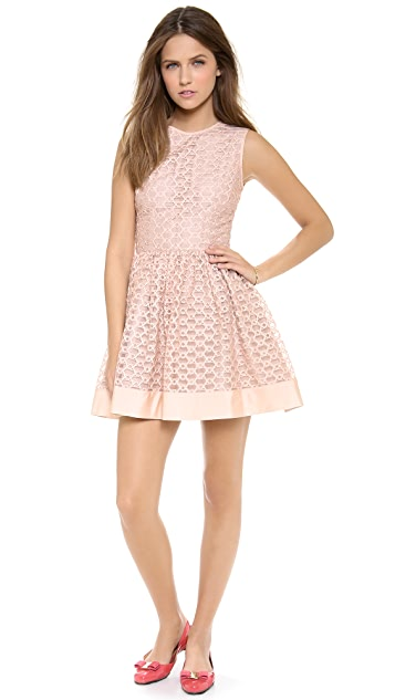 RED Valentino Ribbon Embroidery Dress